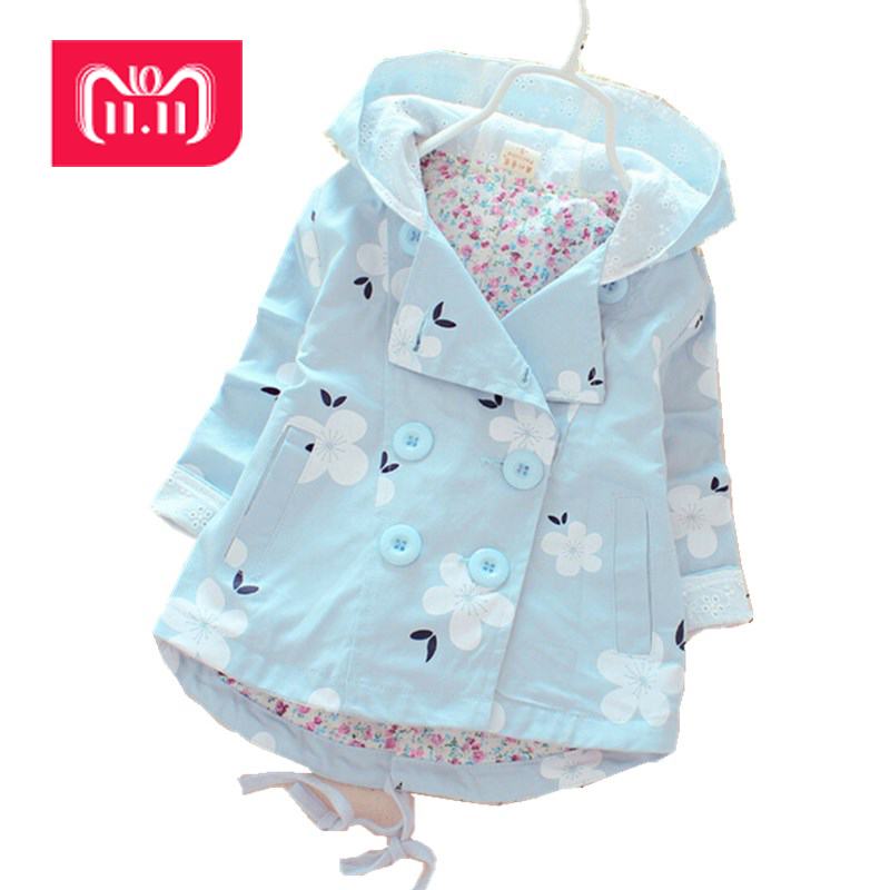 2016 New spring and autumn fashion girls casual hooded windbreaker children outerwear coat kids jacket children clothing M1533 children s denim jacket 2018 spring and autumn new male baby outerwear girls autumn hooded jacket kids jacket casual hooded