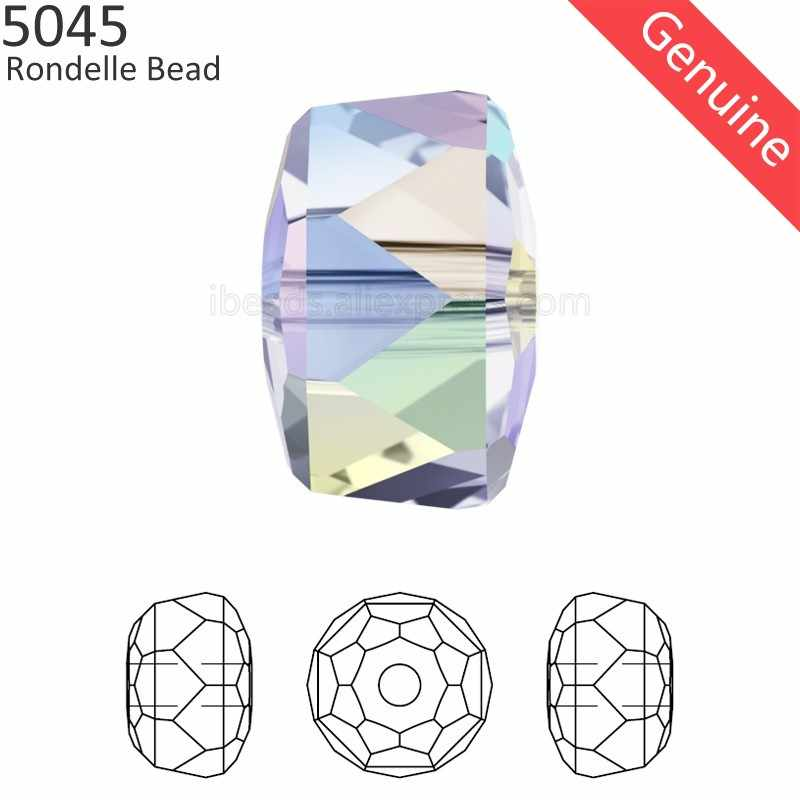(1 piece) 100% Original Crystal from Swarovski 5045 Rondelle Bead made in Austria loose beads rhinestone for DIY jewelry making