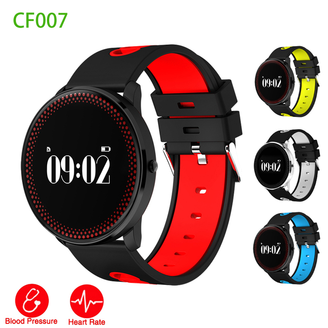 3ddd795a6c1bc3 CF007 Round Smart Watch Heart Rate Blood Pressure Monitor Fitness Tracker  Passometer Watch Smartwatch for android ios Smartphone