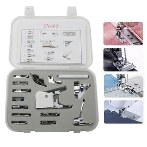 #cy-015 Sewing Machine Presser Foot Pedal Sewing Machine Braiding Blind Stitch Darnign Presser Foot set kit 5BB5089(China)