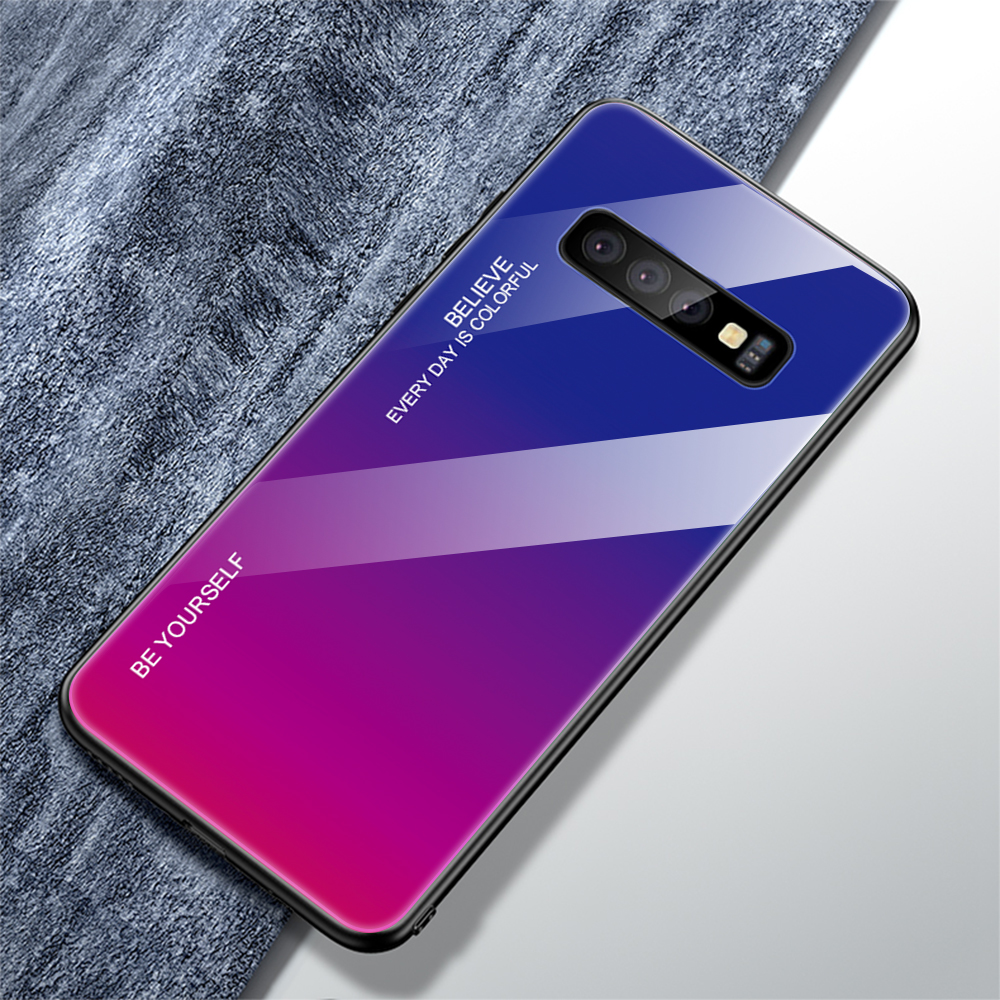 For Samsung Galaxy S10 Plus S10 Lite Case Gradient Tempered Glass Phone Cases For Samsung S10 S9 S8 Plus Note 9 Note 8 Cover     (19)
