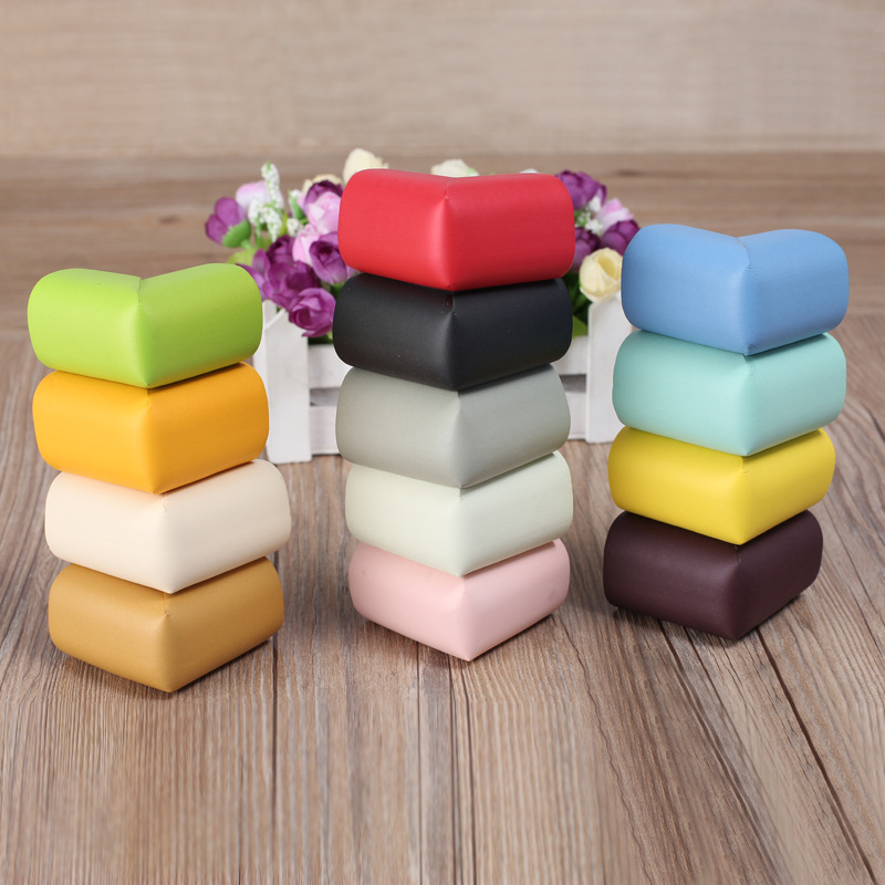 4pcs/Pack New Arrival Children Protection Table Solid Colors Optional Pads On Corners Thick Design Corner Protector Cheap Stuff