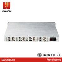 HWCODEC 8 channel sdi h.265/h.264 ip encoder h265 IPTV full 1080p hd h264 sdi video iptv hevc cable tv encoder iptv providers