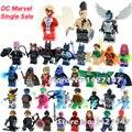 Одной Продажи DC Marvel superheros бэтмен джокер X-MEN Архангел Дакен строительные блоки самоконтрящиеся действий игрушки для детей