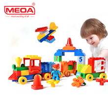 75/66/65PCS Large Blocks My First Number Train bricks Compatible with Duplo Building Block Toys for Preschool Pre-Kindergarten