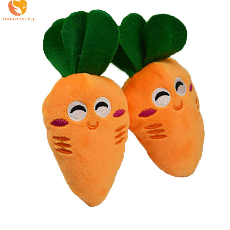Plush Cartoon Dog Toy Carrot Pattern Sound Pet Toys Puppy Chew Squeaker Squeaky Pets Products For Small Dogs Teddy Chihuahua