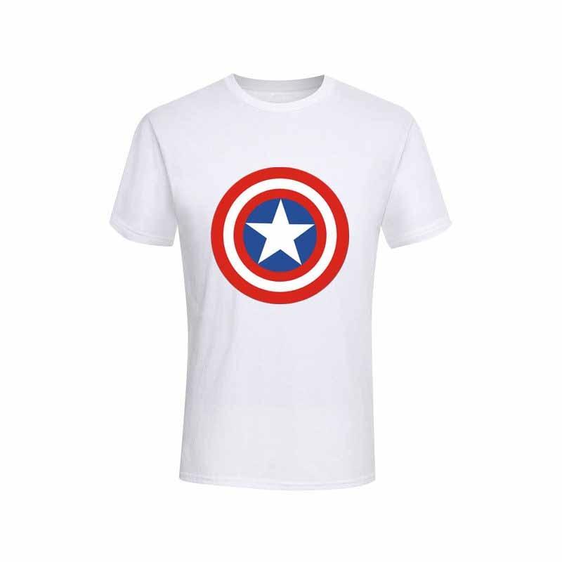 MARVEL CAPTAIN AMERICA T-shirt Distressed Shield Logo Tee Adult Men Navy New