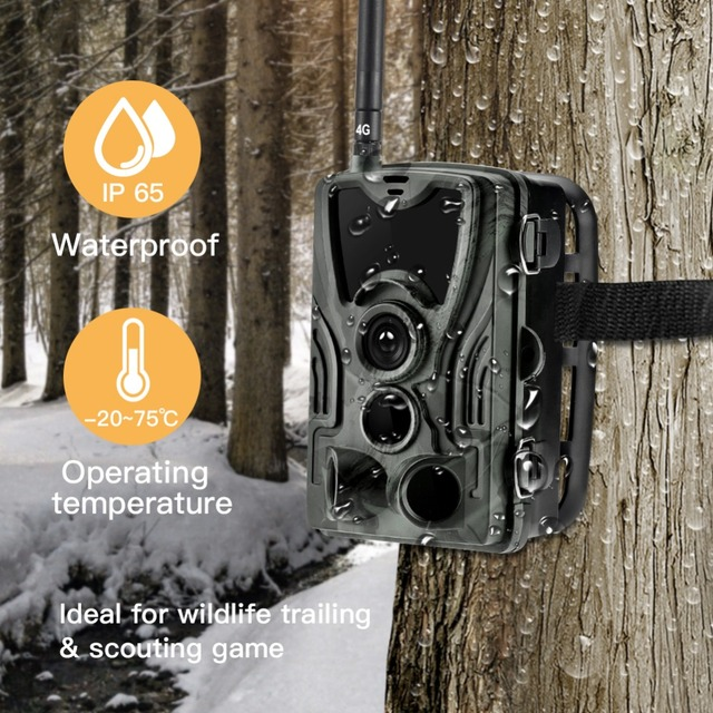4G MMS 16MP Hunting Trail Camera HC801LTE Wildlife  Surveillance Cameras Photos and Video 0.3S Trigger  Infrared With Antenna
