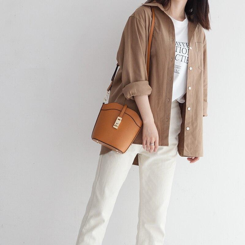 цена на VENOF 2018 new mini bucket bag Fashion Genuine leather bag Shoulder Bags Woman Famous Brand Luxury Handbags Women Bags Designer