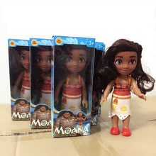 16cm Action Figure Toys Moana Princess Maui Chick Handan Spotted Pig PVC Model Toys Girls Kids Lover Gifts(China)