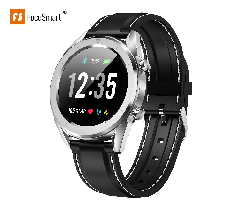 FocuSmart 2019 DT28 Sport Smart Watch IP68 Waterproof Fitness tracker Heart  Rate Monitor Smart Watch Band For IOS/Android