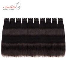 10 пучков бразильские прямые волосы Реми плетение натуральный цвет человеческие волосы 10 пучков набор для оптовой продажи