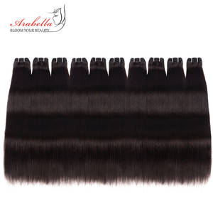 Weave 10-Bundles-Set Wholesale Brazilian Straight for Remy-Hair Natural-Color 100%Human-Hair