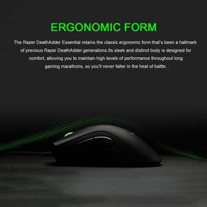 Image 5 - Razer ratón ergonómico para videojuegos DeathAdder Essential, Sensor óptico de 6400 DPI, para ordenador, portátil, PC, Mices
