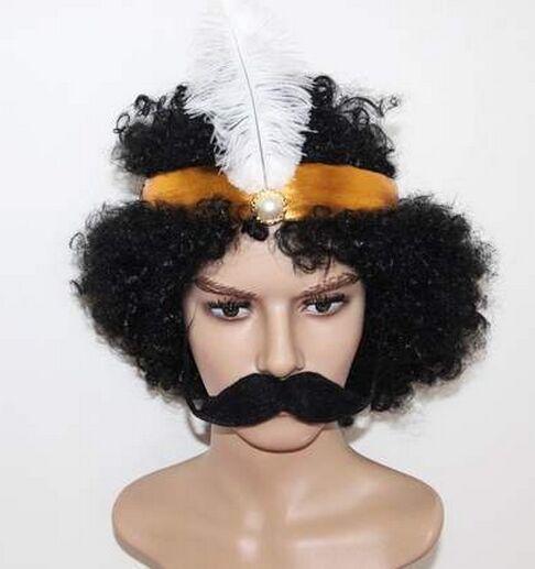 India set peluca peluca de la india principal árabe accesorios sultan accesorios del traje sultan cosplay príncipe cosplay