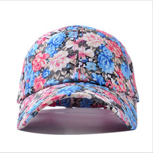 2016 The New Small Floral Pattern Flower Golf Cap Snapback Baseball Caps Outdoor Sunshade Hat