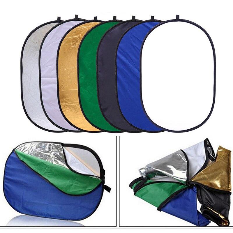 90x120 cm 7 en 1 poche Portable pliable lumière ovale photographie réflecteur Studio Multi disque Photo Studio accessoires - 2