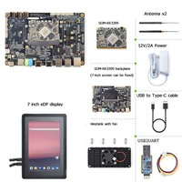 SOM RK3399 AI Developer kit WiFi BT Support Gbps Ethernet and Dual screen display Android/Ubuntu/QT/buildroot HDMI IN/OUT