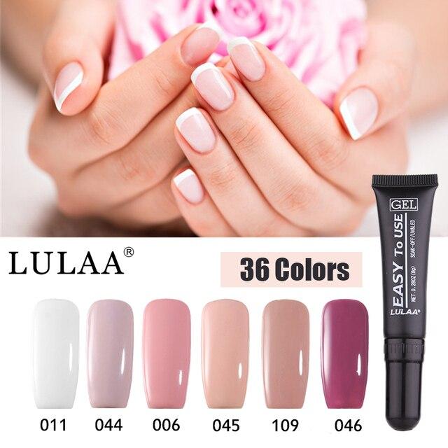 Lulaa 2018 New Arrival Soft Gel Nail Polish 36 Color Soak Off Uv