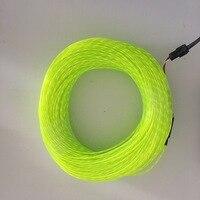 Lampeggiante al neon el chasing filo elettroluminescente che scorre via cavo correre wire, 2.3mm di diametro 50 m rotolo con AC80-240V inverter