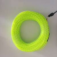 flashing el neon chasing wire electroluminescent flowing cable running wire, 2.3mm diameter 50m roll with AC80 240V inverter