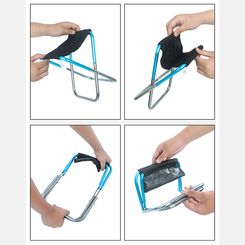 Foldable Fishing Chair Lightweight Outdoor Picnic chairs 211g Portable Stool Aluminium Bracket Oxford Cloth Beach Camping Chair in Fishing Chairs from Sports Entertainment