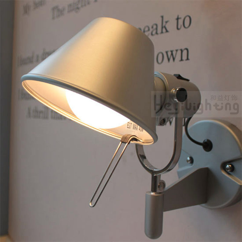 ФОТО NEW Simple and stylish modern bedroom wall lamp LED bedside lamp black aluminum multifunction adjustable lamp Specials