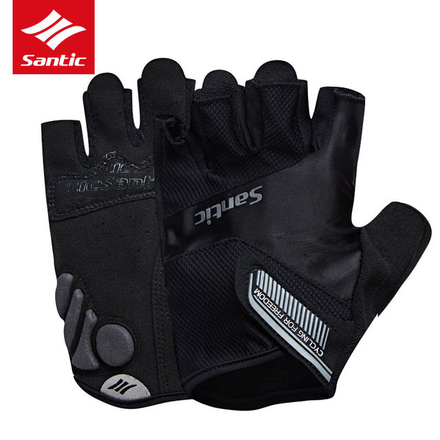 Santic Cycling Gloves Half Finger Men Women Road Bike Gloves Anti-shock Breathable MTB Bicycle Cycle Gloves Guantes Ciclismo