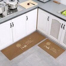 Modern Kitchen Mat Anti-slip Area Rugs for Living Room Balcony Bathroom Carpet Set Doormat Bath Mats Bedroom Maple