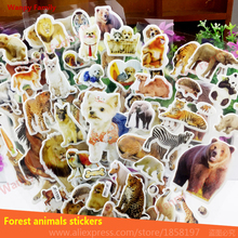 10 PCS/Lot Forest animal king of beasts Sticker nursery home decor decals Children stickers for kids Birthday Gift