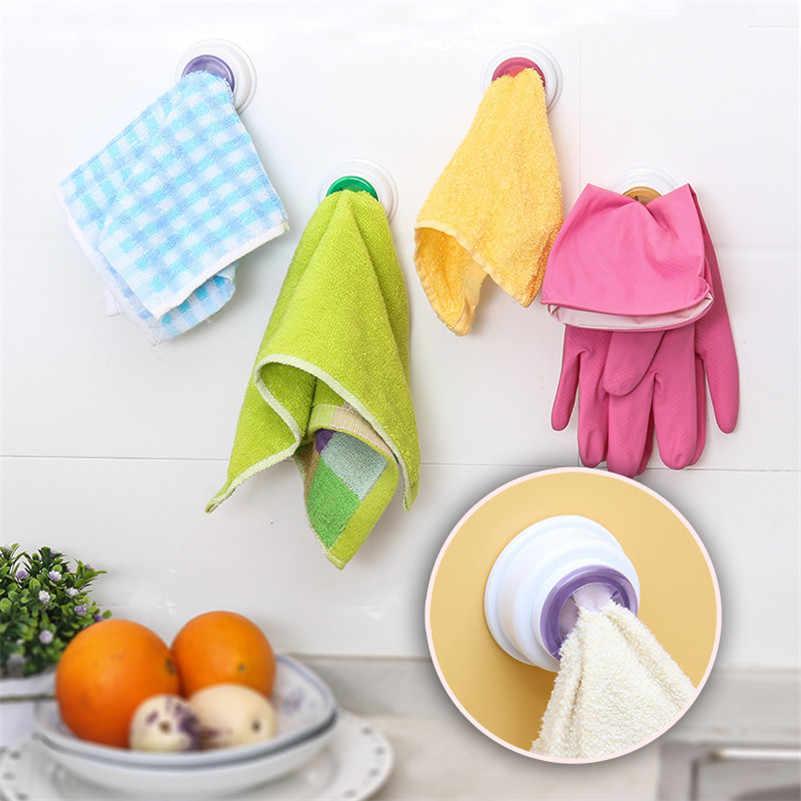 1 pçs conveniente ganchos de armazenamento cozinha pano de lavagem cabide toalheiro titular otário janela parede banheiro ferramenta cor aleatória