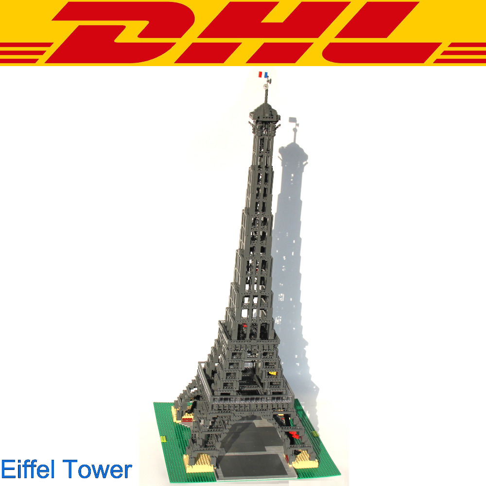 2018 New 3478Pcs City Figures The Eiffel Tower Model Building Kits Blocks Bricks Toys For Children Gift Compatible With 10181 lepin 17002 3478pcs paris eiffel tower model kits building blocks bricks toys compatible 10181 for children gift
