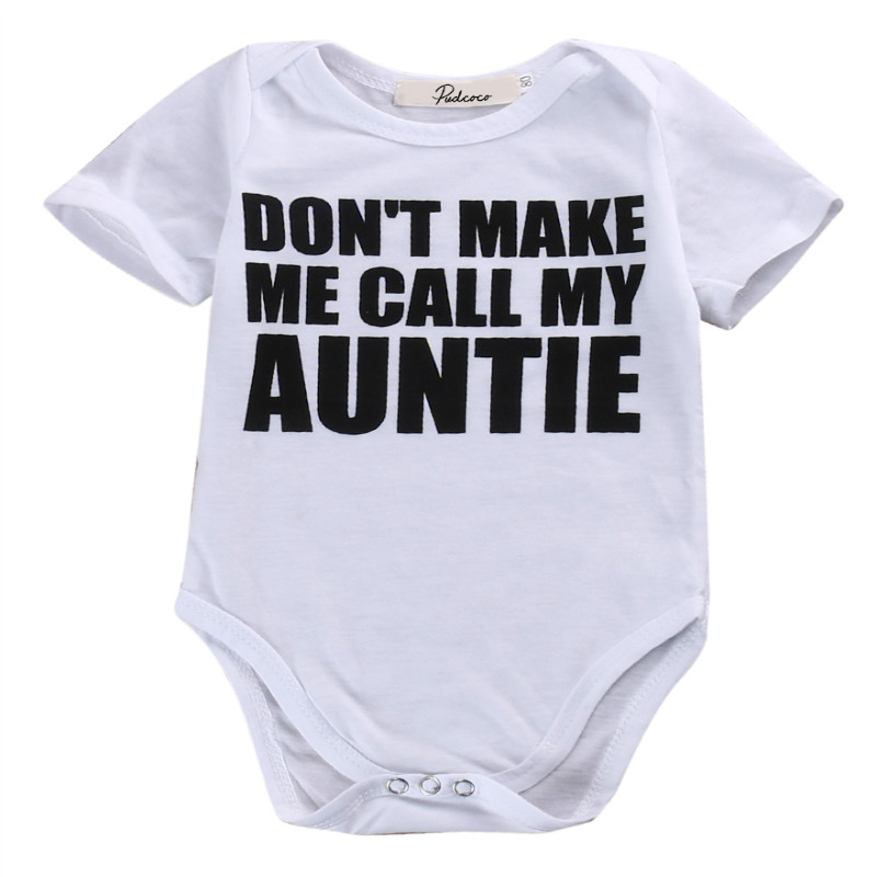 Newborn Infant Kids Baby Boy Girl Bodysuit Letters Printed Lovely Baby Bodysuits Jumpsuit Short Sleeve Baby Summer Clothes 0-18M Kids Rompers
