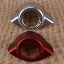Car ABS Red Engine Keyless Start Stop Push Button Cover Trim Decoration Ring Chrome Fit For Alfa Romeo Giulia Stelvio 2017 2018