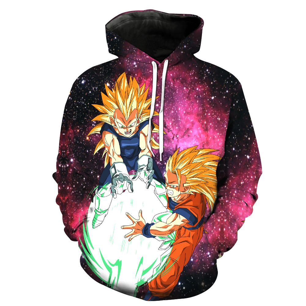 Sondirane New Fashion 3D Print Cool Cartoon Dragon Ball Z Anime Hooded Sweatshirt Long Sleeve Pullovers Hip Hop Sweats Tops 6XL