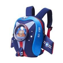 7620ca80ebf Niño mochila con arnés de seguridad Correa niños cohete mochila para niños  niñas impermeable bolsa de