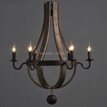 lámpara colgante con madera RETRO VINTAGE
