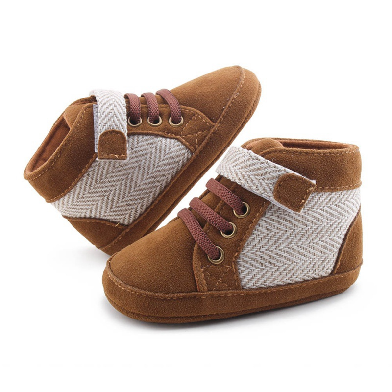 Autumn Winter Baby Boys Warm Patchwork Anti-Slip Shoes Sneakers Toddler Soft Soled Boots First Walkers #