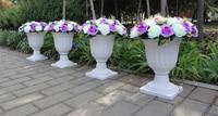 2014 Plastic Flower Pot Wedding Road Lead Wedding Decoration 10pcs Lot