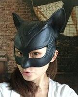 Yeni Dans Parti Maskesi Seksi Top Lateks Maske Kız Catwoman Maskeli Kedi Cadılar Bayramı Fantezi Elbise Kostüm Siyah Kedi Maske Oyuncaklar