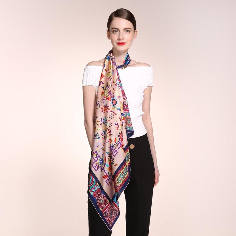 Luxury silk square 100% silk scarves Printed scarf High-end shawl gift 90cm*90cm silk