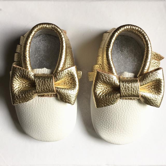 Nueva Primeros Caminante de Cuero Genuino Doble Arco zapatos de Bebé de Colores Mezclados Niño Bebé mocasines Zapatos Franja Envío gratis