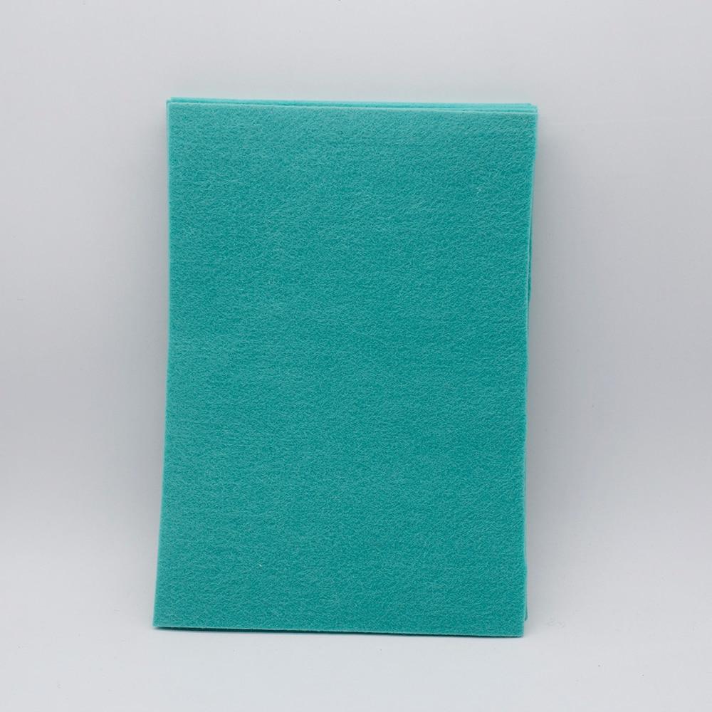 Green A4 Artificial Wool Felt Polyester Non Woven Thick 3mm Felt Fieltro Para Manualidades Diy Craft Handmade Felt Flowers Vilt