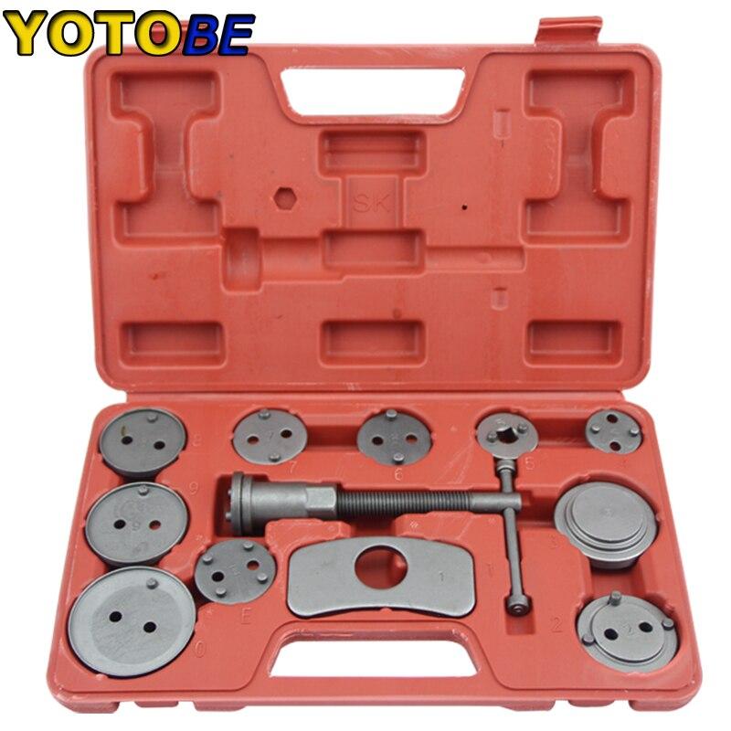 12PC étrier de frein Piston Pad voiture rembobinage retour Auto réparation outil Kit frein Pad outil de remplacement