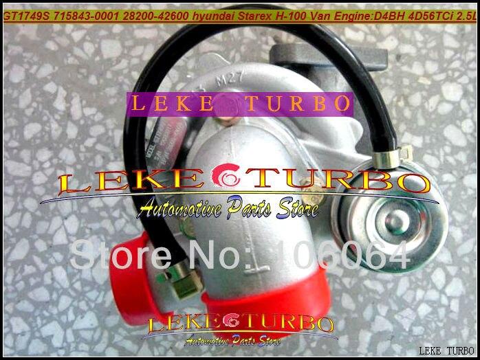 GT1749S 715843-5001S 715843 28200-42600 715843-0001 Turbo For Hyundai Starex H1 H200 H-1 Satelite Libero 2.5L 4D56TCI D4BH 4D56
