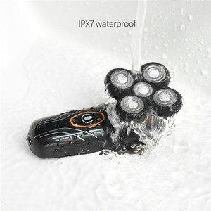 Image 2 - Rasoir électrique étanche, Rechargeable par USB, 5 lames flottantes, Kit de toilettage professionnel, tondeuse à barbe