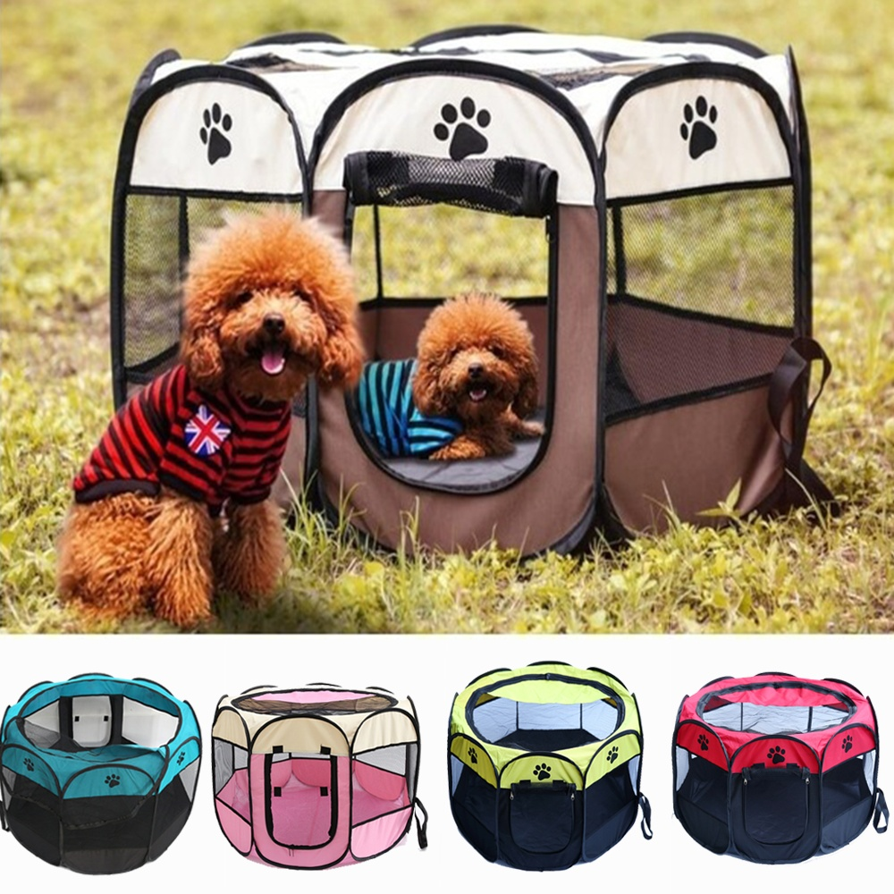 Pet Bed Dog House Cage Cat Outdoor Indoor Dogs Crate Kennel Nest Park Fence Playpen for Small Medium Big Dogs Puppy Pet Supplies image