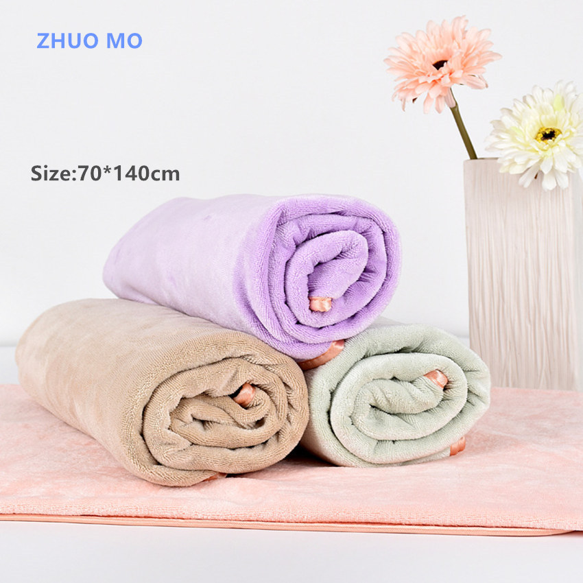 2Pcs 2018 Fashion Microfiber Bath Towel Beach Towel For Adults Fast Drying Exquisite package edge High Absorbent Antibacterial