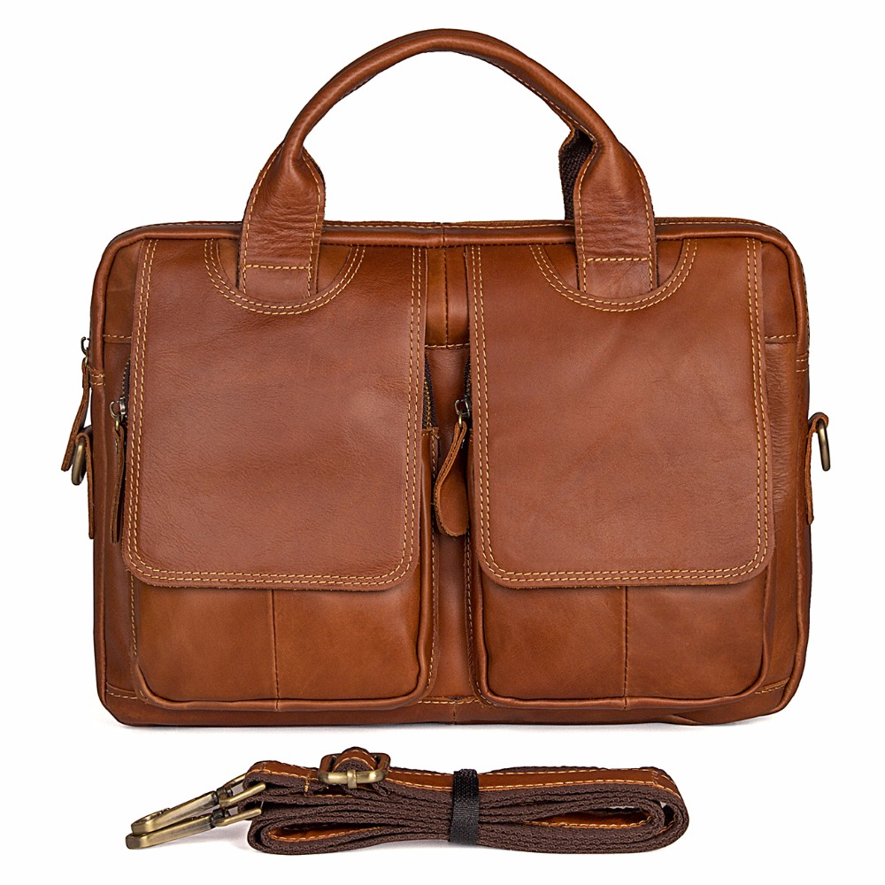 JMD 100% Genuine Leather Brown Color Big Travel Bag Fashion Handbag Brand New Crossbody Bag Durable Messenger Bag 7378B/7378C