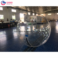 1.0mm PVC transparent inflatable walk on water ball,clear inflatable water walking ball for kids